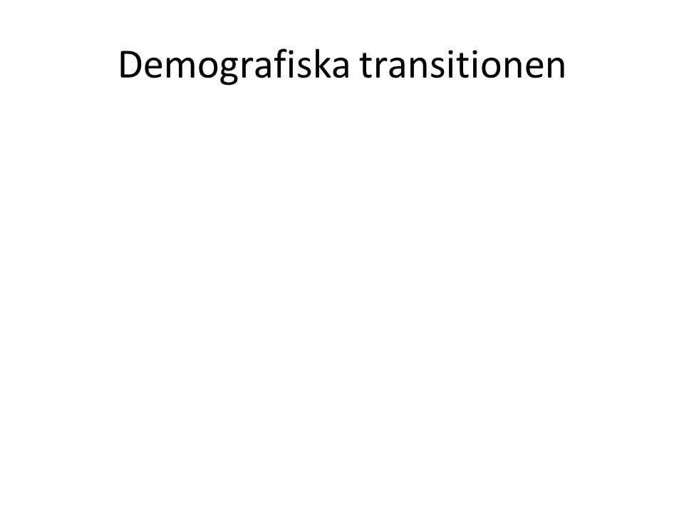 Demografiska transitionen