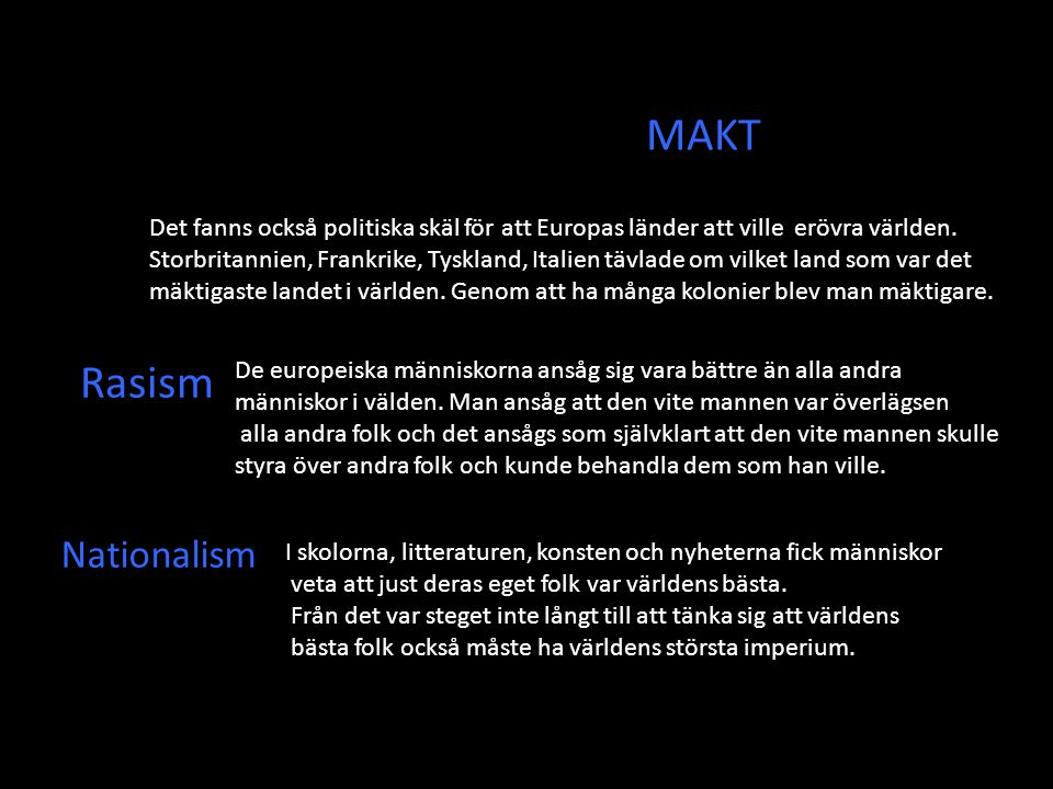 MAKT Rasism Nationalism