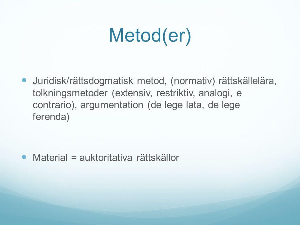 Metod(er)