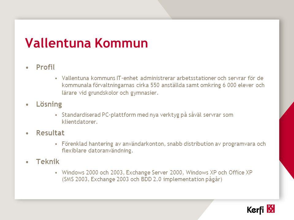 Vallentuna Kommun Profil Lösning Resultat Teknik