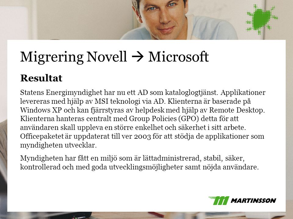 Migrering Novell  Microsoft