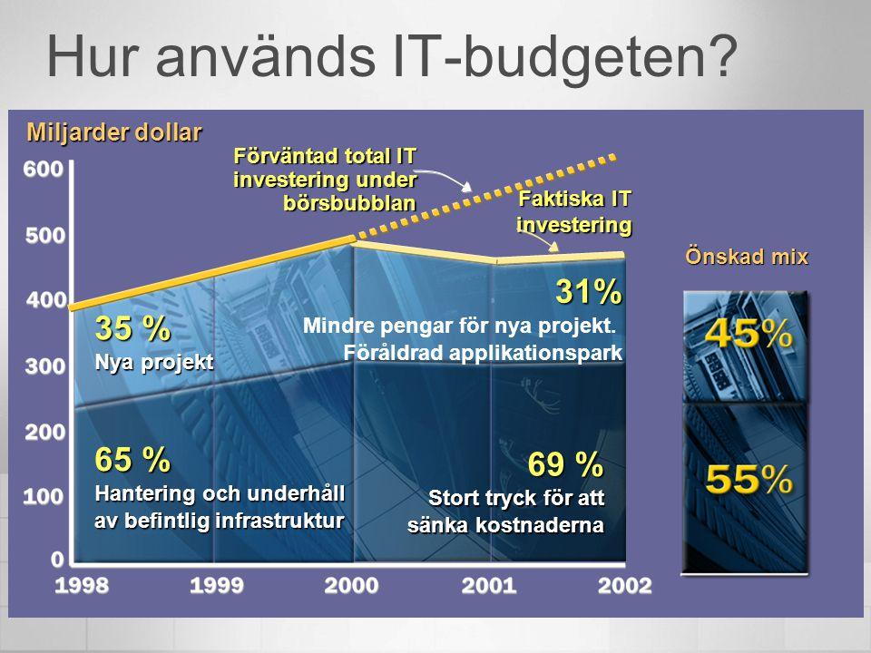 Hur används IT-budgeten