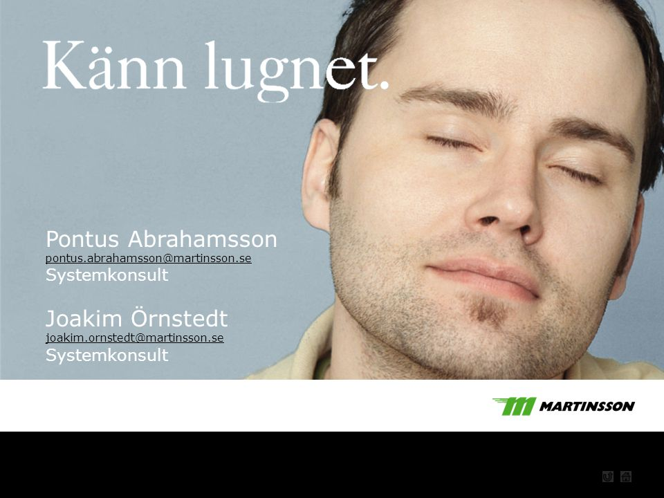 Pontus Abrahamsson Joakim Örnstedt Startbild Systemkonsult