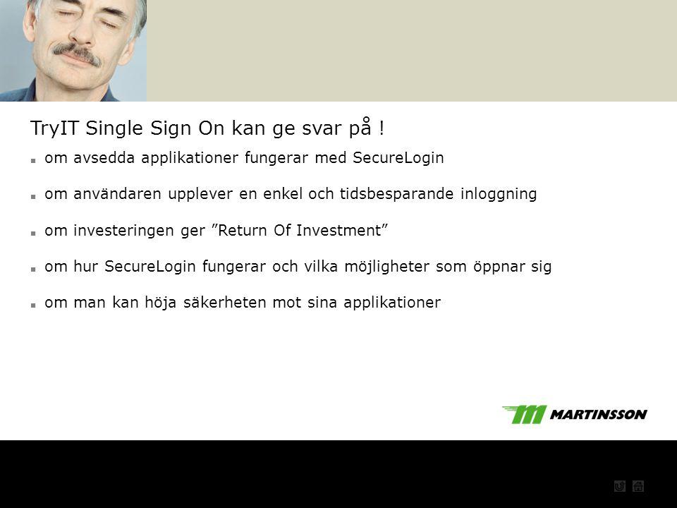 TryIT Single Sign On kan ge svar på !