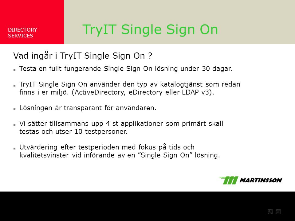 Vad ger TryIT Single Sign On