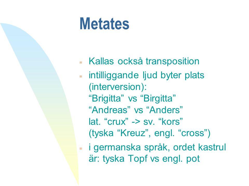 Metates Kallas också transposition