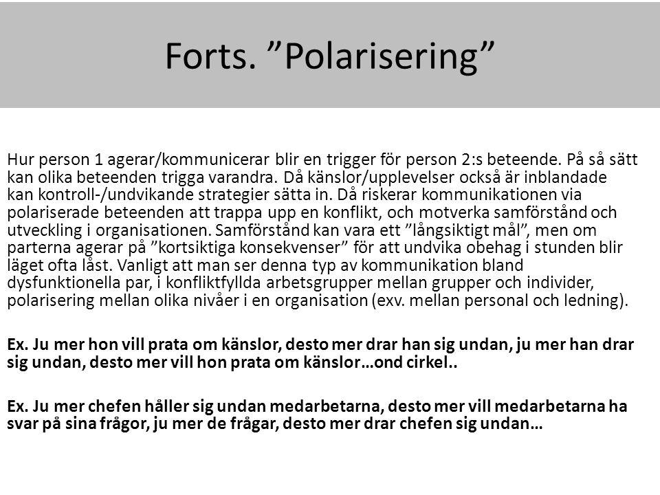 Forts. Polarisering