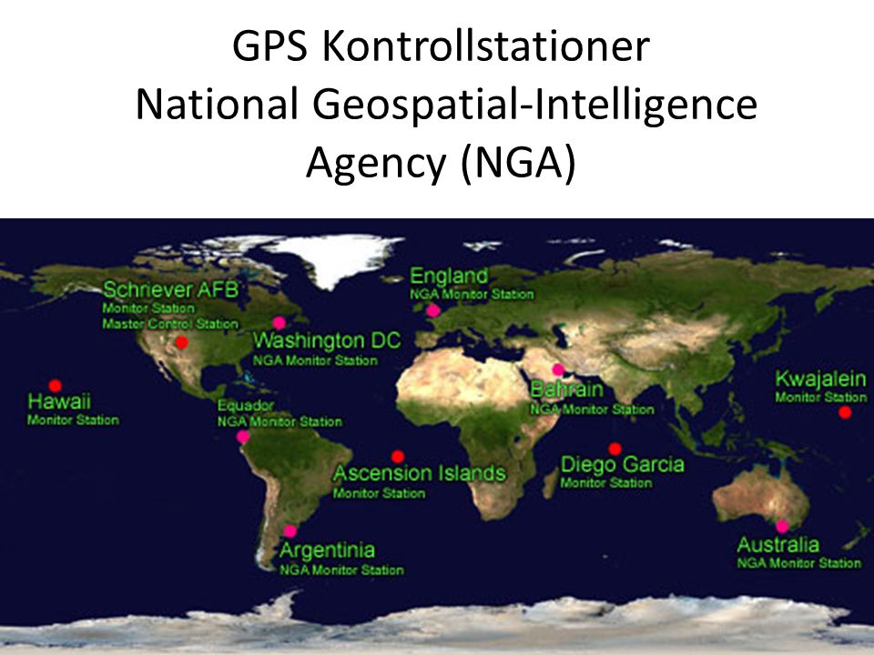 GPS Kontrollstationer National Geospatial-Intelligence Agency (NGA)