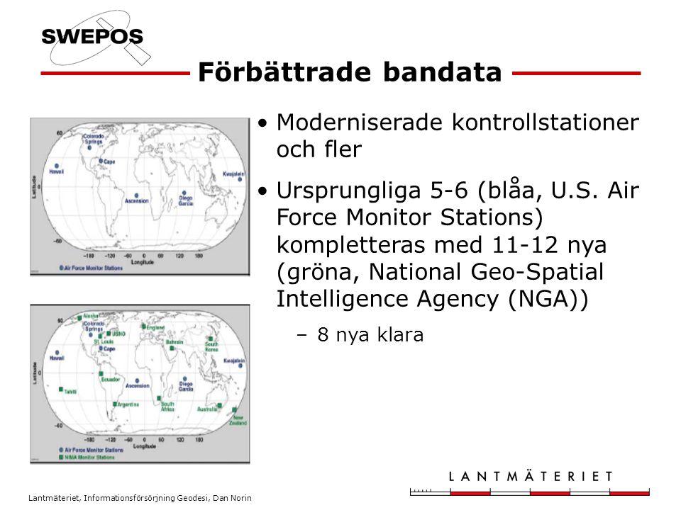 Förbättrade bandata Moderniserade kontrollstationer och fler
