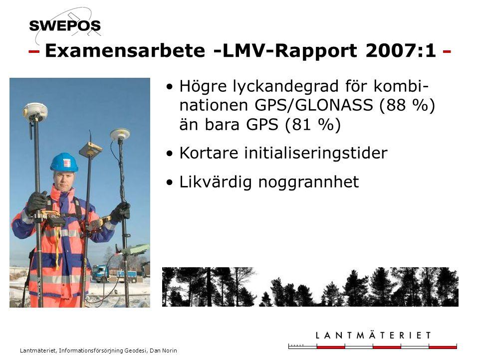 Examensarbete -LMV-Rapport 2007:1