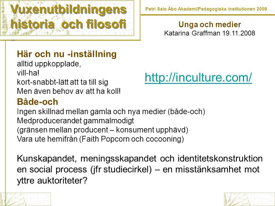 Vuxenutbildningens historia och filosofi http://inculture.com/