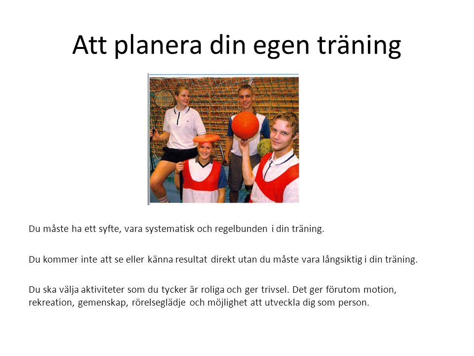 Att planera din egen träning