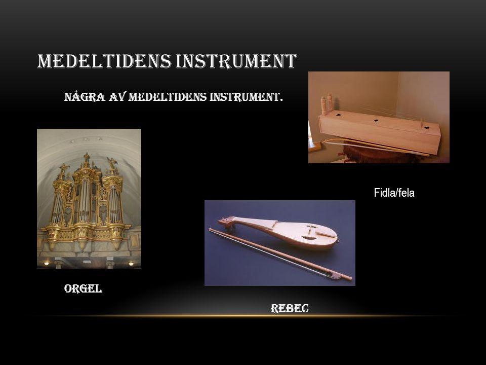 Medeltidens instrument