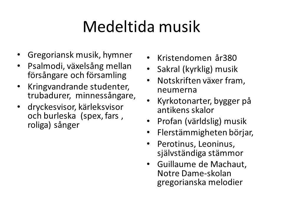 Medeltida musik Gregoriansk musik, hymner Kristendomen år380