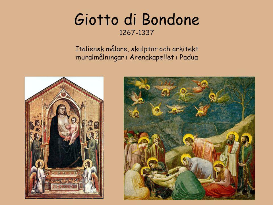 Giotto di Bondone 1267-1337 Italiensk målare, skulptör och arkitekt muralmålningar i Arenakapellet i Padua