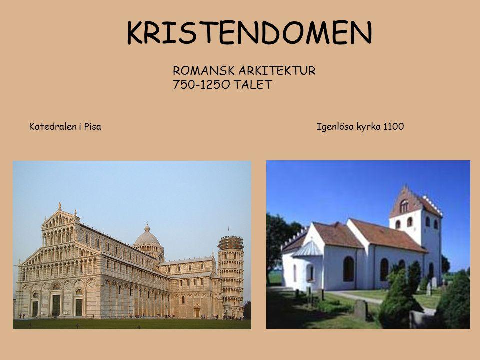 KRISTENDOMEN. ROMANSK ARKITEKTUR. 750-125O TALET Katedralen i Pisa