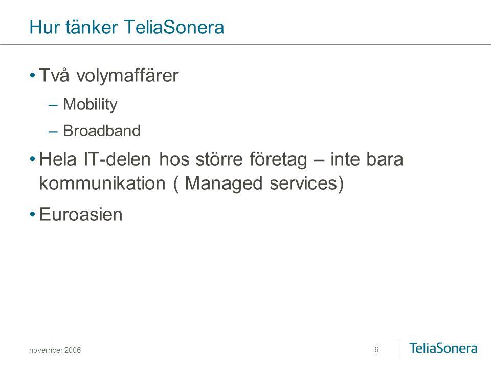 Hur tänker TeliaSonera