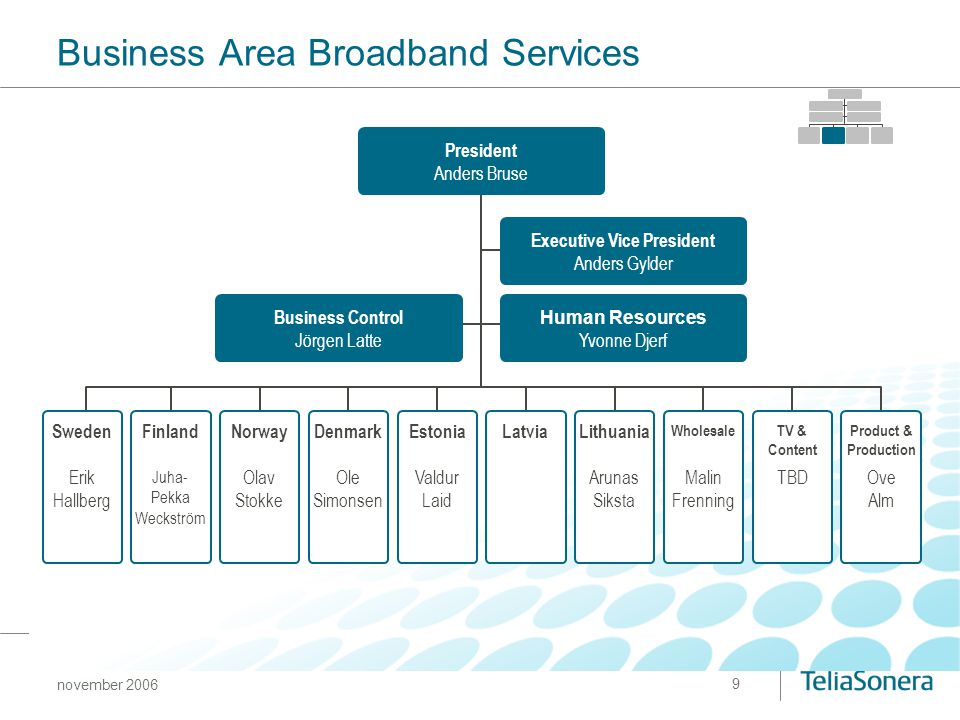 Business Area Broadband Services