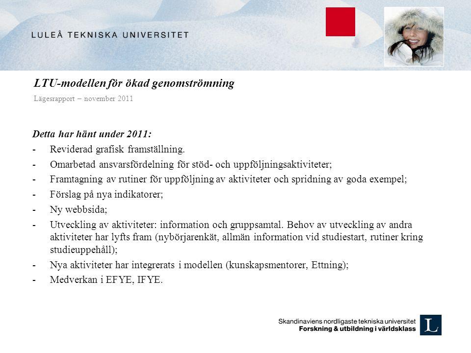 LTU-modellen för ökad genomströmning Lägesrapport – november 2011