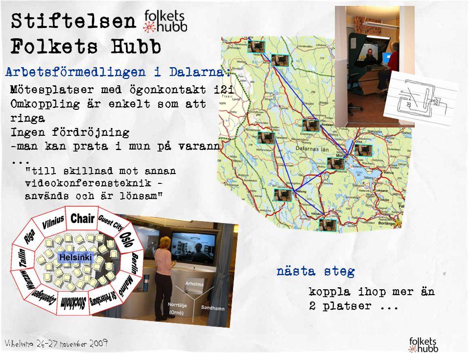 Stiftelsen Folkets Hubb Arbetsförmedlingen i Dalarna: nästa steg