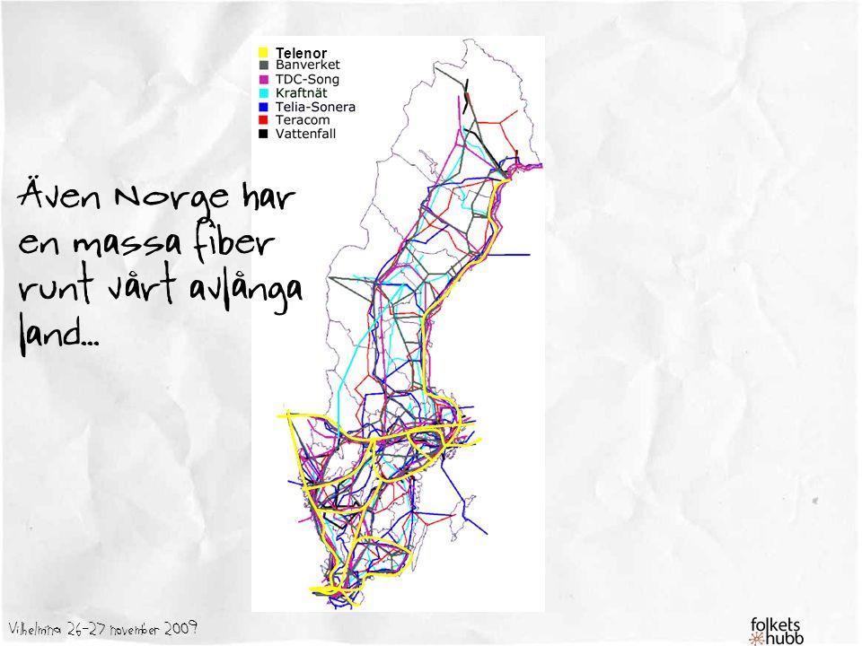 Även Norge har en massa fiber runt vårt avlånga land...