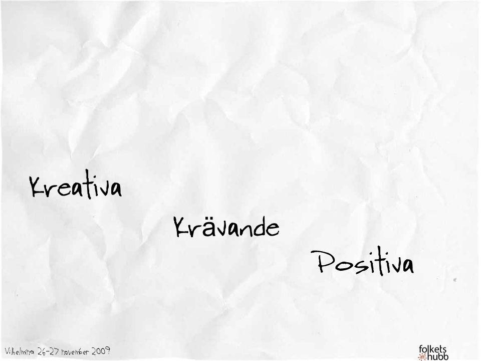 Kreativa Krävande Positiva