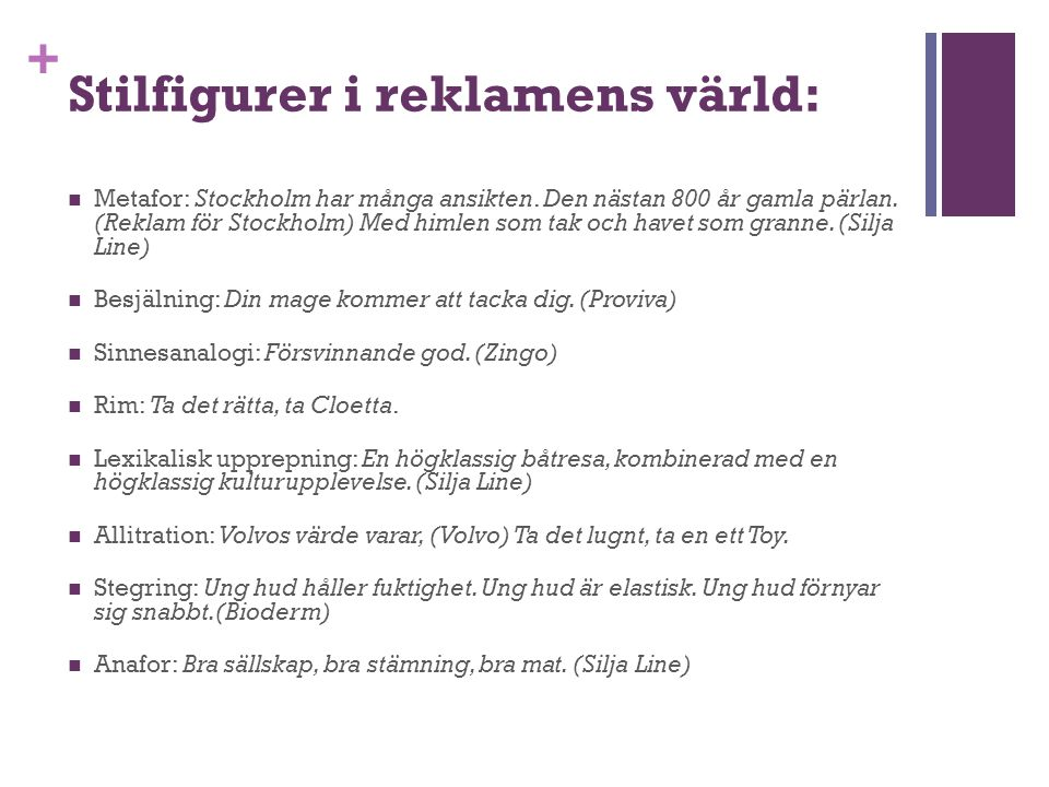Stilfigurer i reklamens värld:
