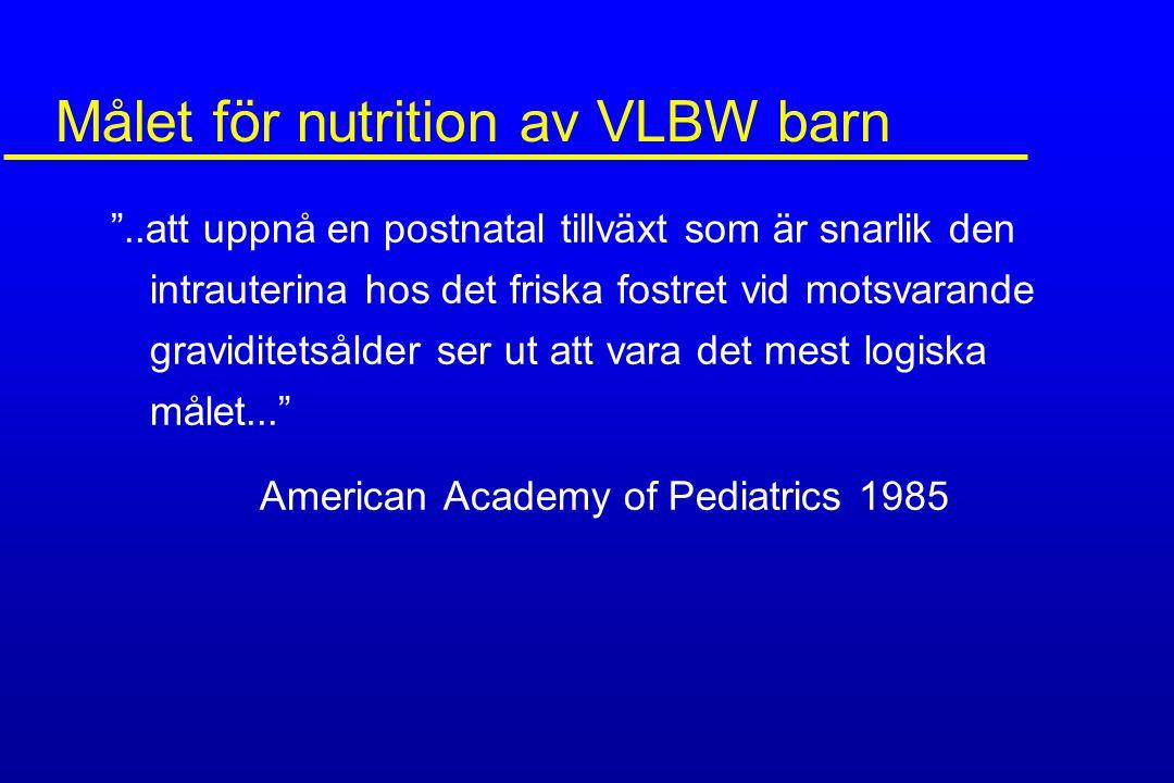 Målet för nutrition av VLBW barn