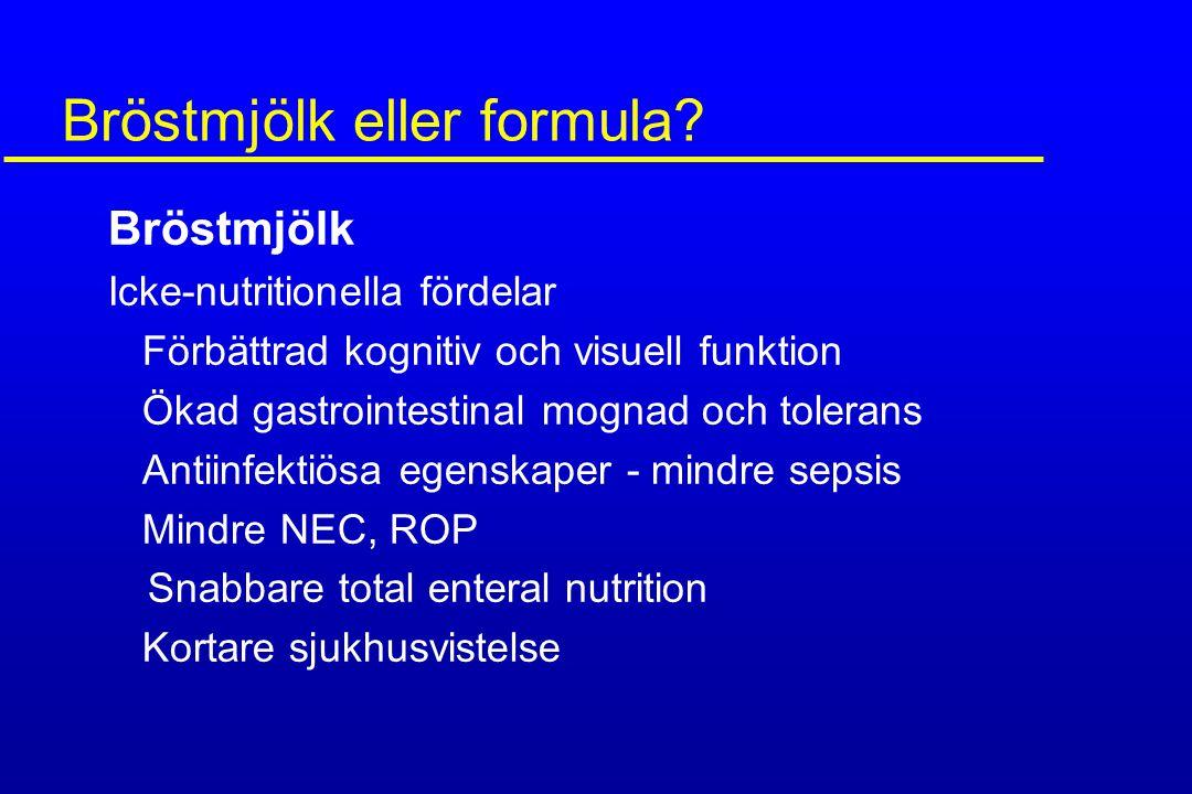 Bröstmjölk eller formula