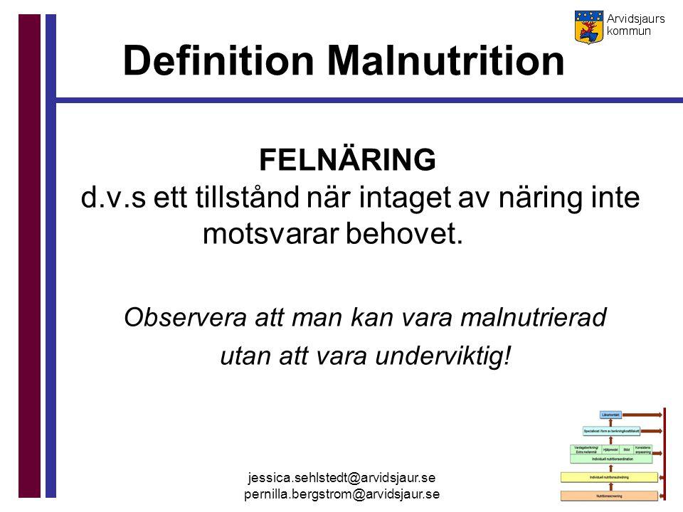 Definition Malnutrition