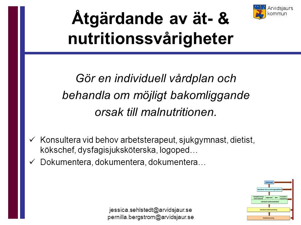 Åtgärdande av ät- & nutritionssvårigheter