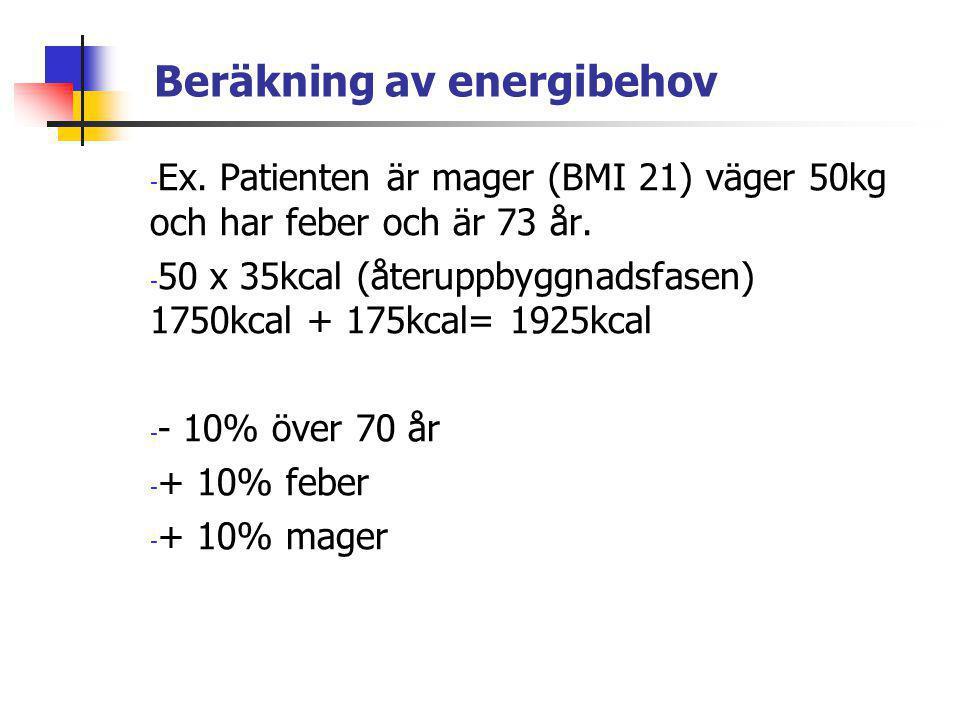 Beräkning av energibehov