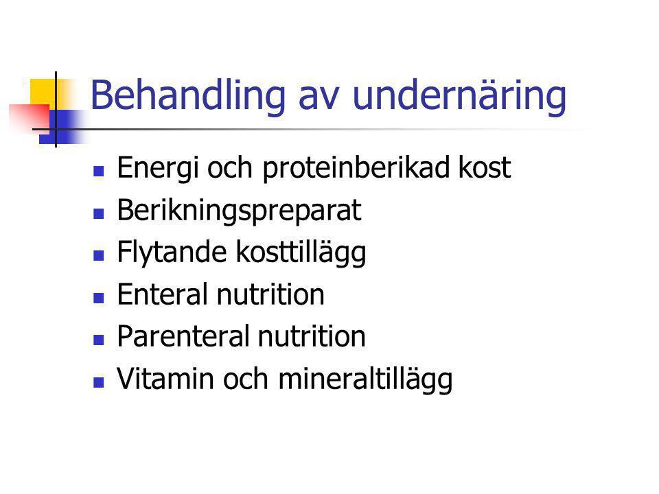 Behandling av undernäring