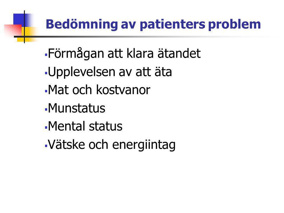 Bedömning av patienters problem