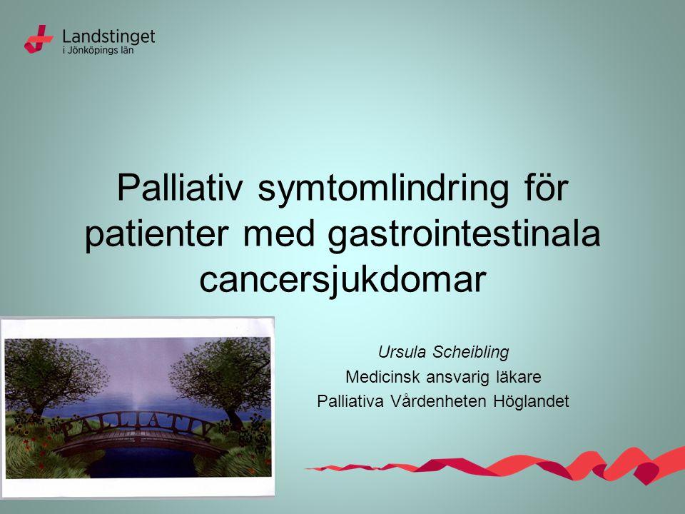 Palliativ symtomlindring för patienter med gastrointestinala cancersjukdomar
