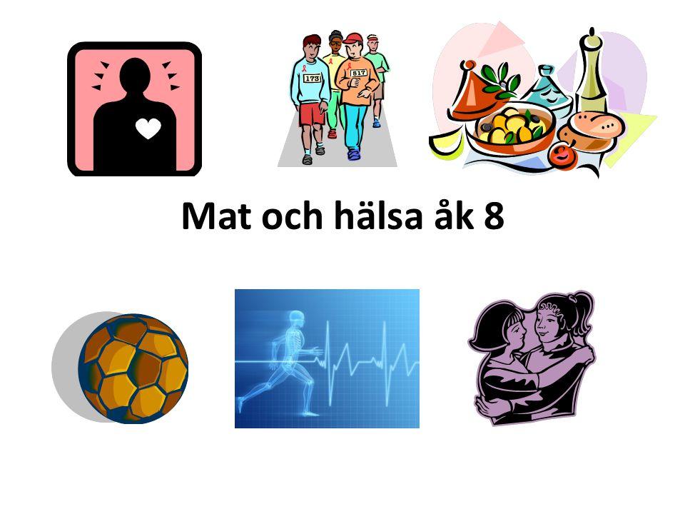 Mat och hälsa åk 8