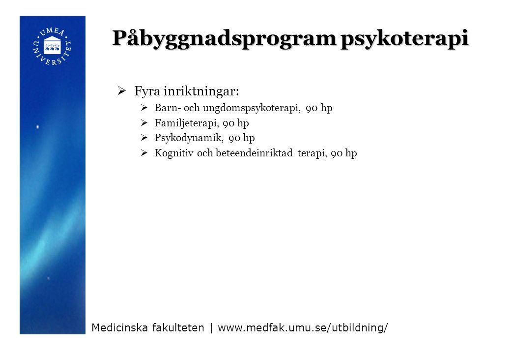 Påbyggnadsprogram psykoterapi