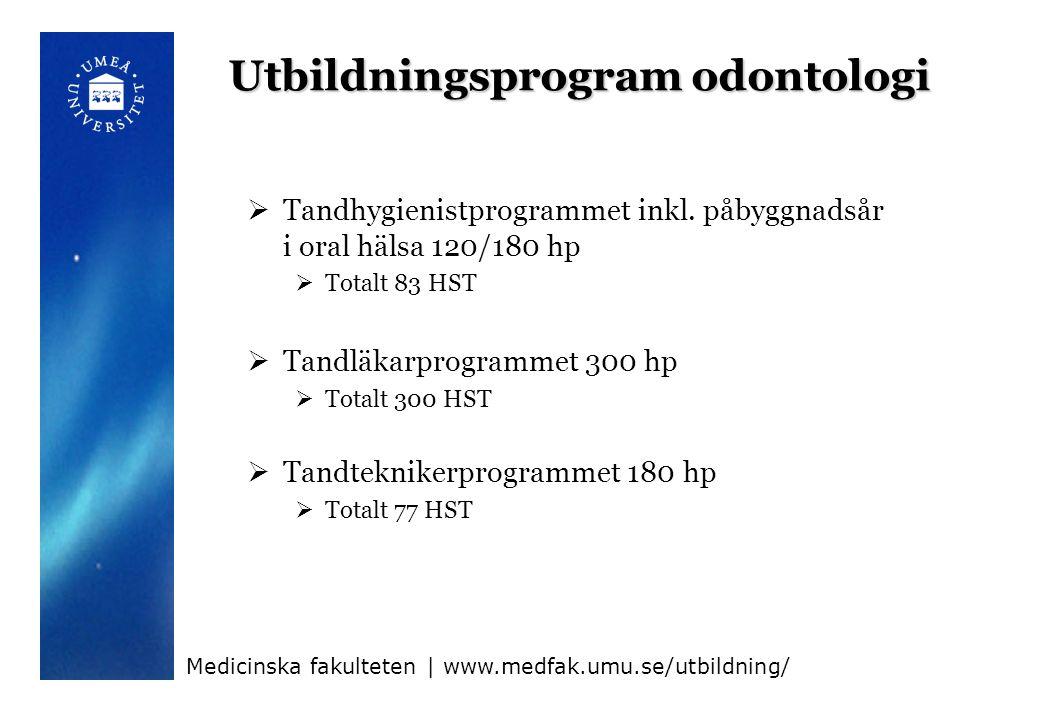 Utbildningsprogram odontologi