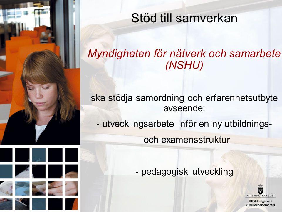 Stöd till samverkan Myndigheten för nätverk och samarbete (NSHU)