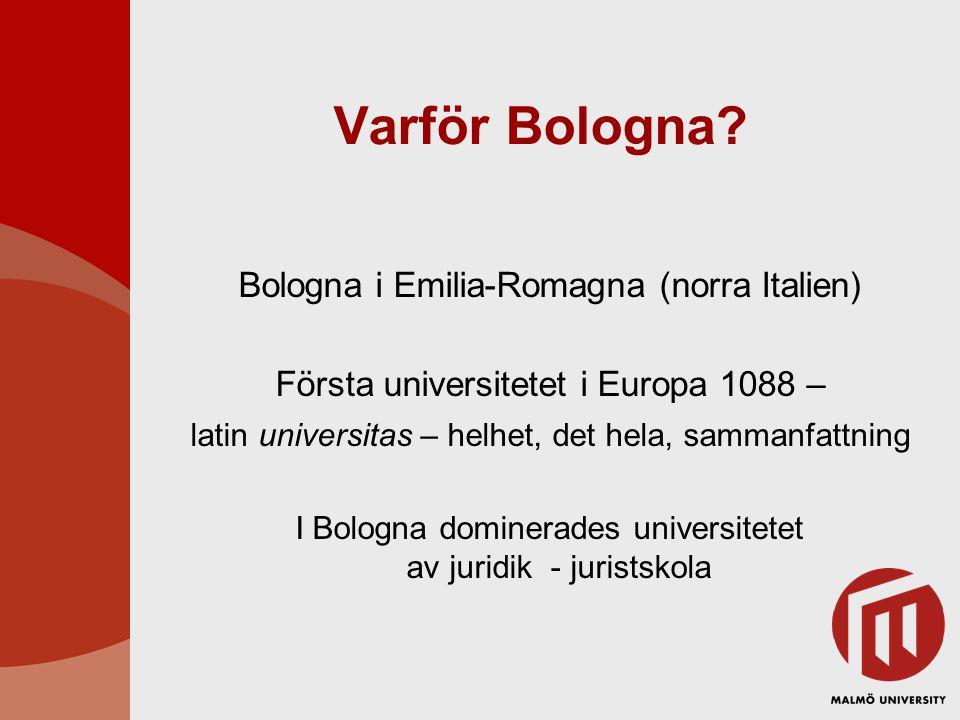 Varför Bologna Bologna i Emilia-Romagna (norra Italien)