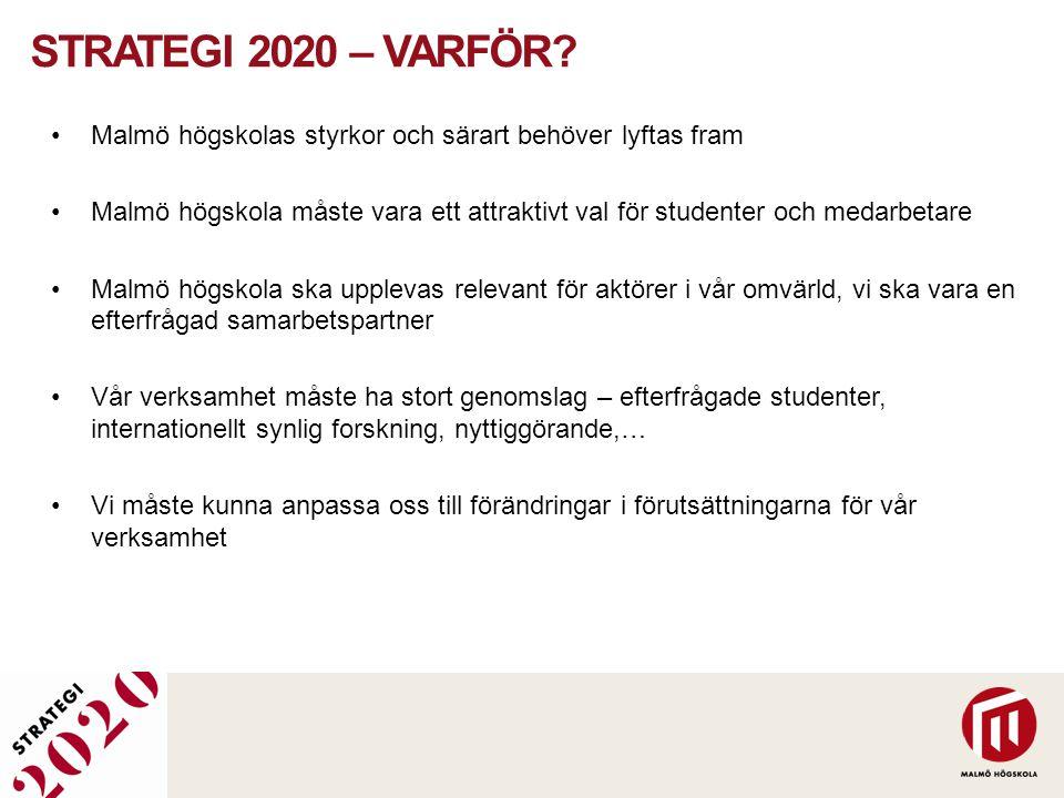Strategi 2020 – Varför Malmö högskolas styrkor och särart behöver lyftas fram.