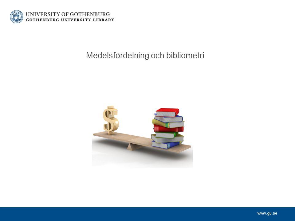 Medelsfördelning och bibliometri