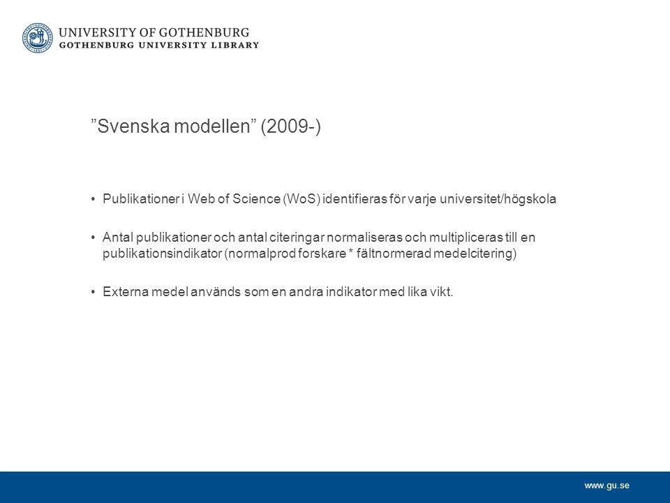 Svenska modellen (2009-)