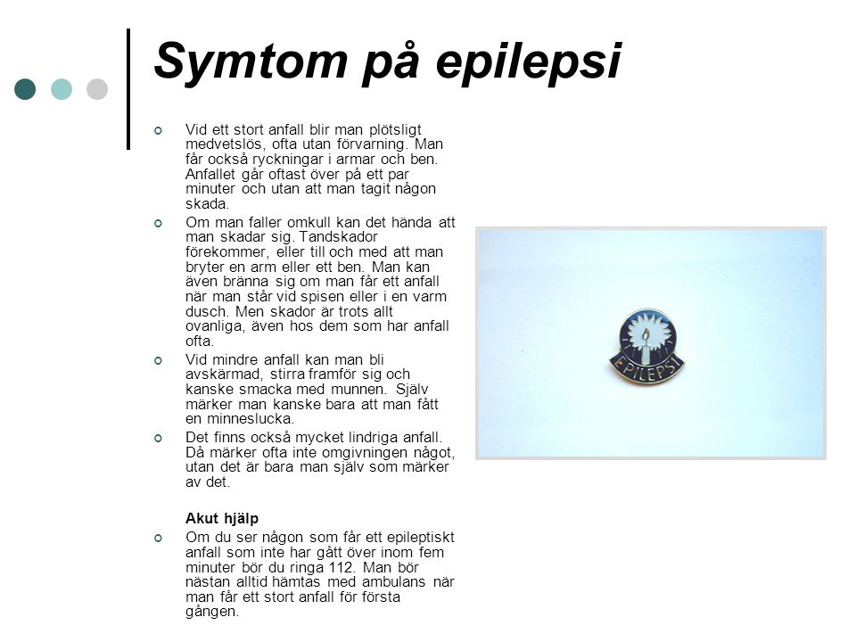 Symtom på epilepsi