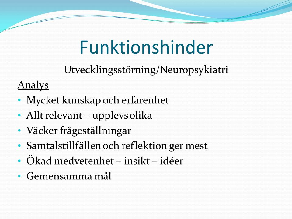 Utvecklingsstörning/Neuropsykiatri