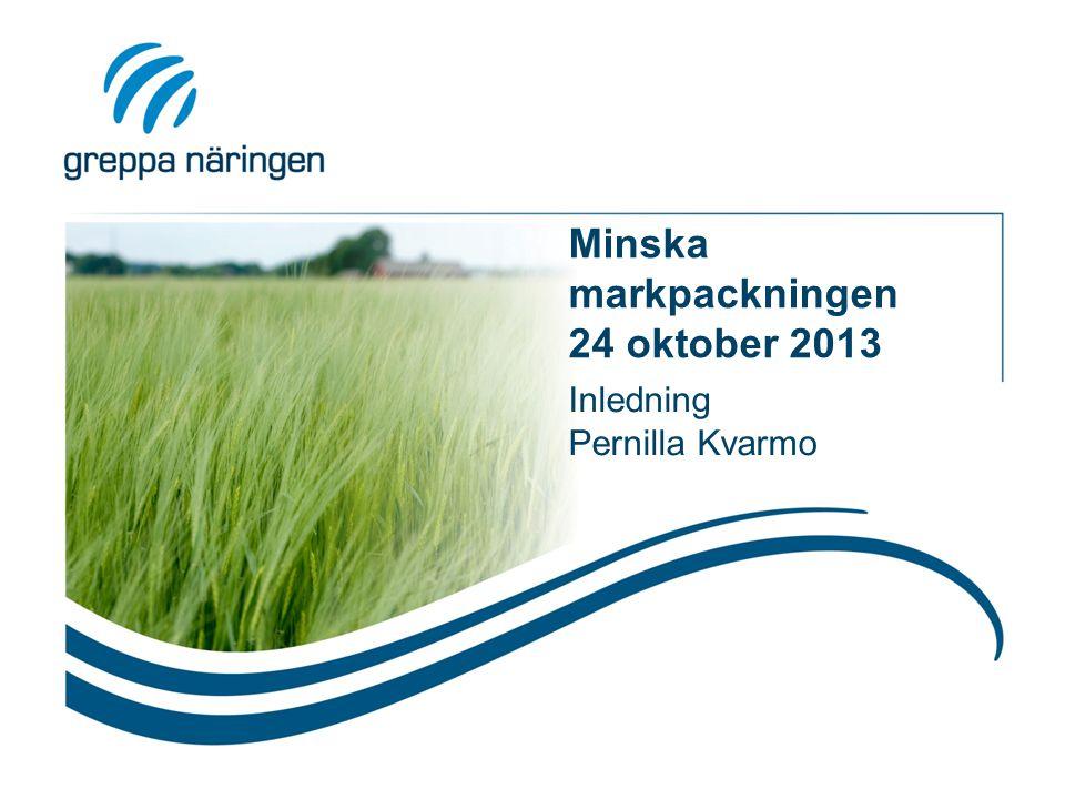 Minska markpackningen 24 oktober 2013