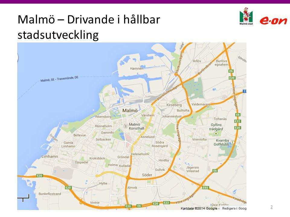 Malmö – Drivande i hållbar stadsutveckling