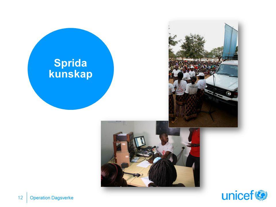 Sprida kunskap Sprida information om utbildning