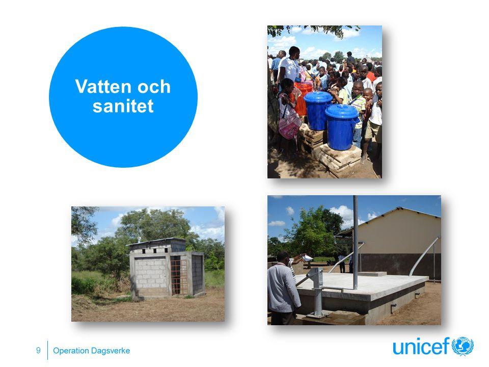 Vatten och sanitet Vatten och toaletter Rent vatten i skolan