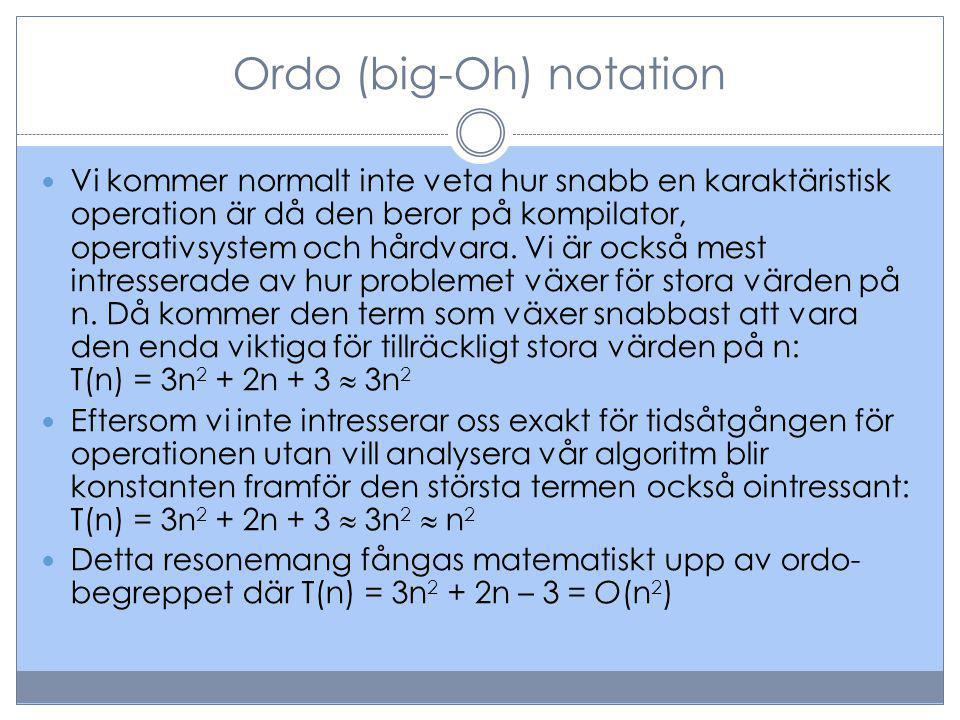 Ordo (big-Oh) notation